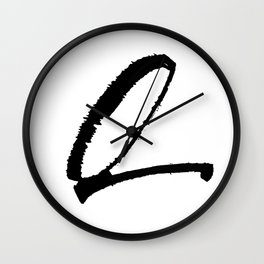 Letter Q Ink Monogram Wall Clock