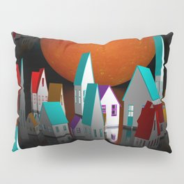 a seamless geometric horizon -2- Pillow Sham