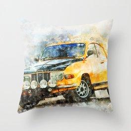 S 96 Rallye Throw Pillow