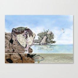Crab vs Oyster Canvas Print