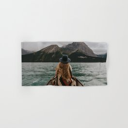 Canoeing in the Rocky Mountains Hand & Bath Towel