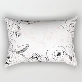 One May Live Without Bread, But Not Roses Rectangular Pillow