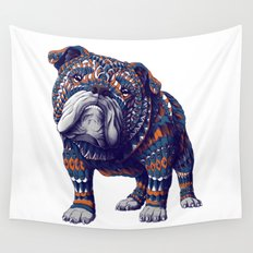 English Bulldog (Color Version) Wall Tapestry