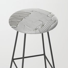 Relief [3]: an abstract, textured piece in white by Alyssa Hamilton Art  Bar Stool