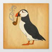 puffin Canvas Prints featuring Puffin' by Megs stuff