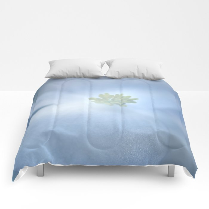 """Delicate white flower"" Comforters"