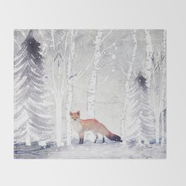 FOX FOX FOX Throw Blanket