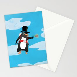 Professor Jetpack Penguin. Esquire.  Stationery Cards