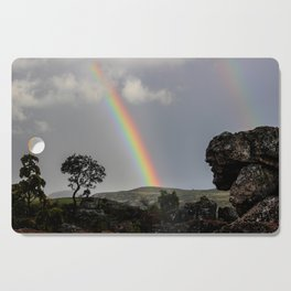 Double Rainbow Africa Landscape Cutting Board