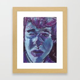 My face in soft pastel. Framed Art Print