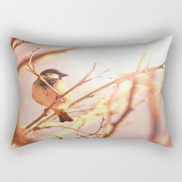 Morning sparrow Rectangular Pillow