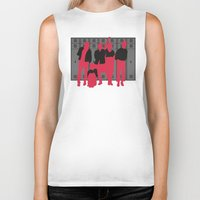 the breakfast club Biker Tanks featuring The Breakfast Club by FilmsQuiz