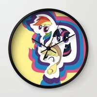 mlp Wall Clocks featuring MLP by pixel.pwn   AK