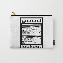 Good Lookout Woman Pose Simple Black Carry-All Pouch