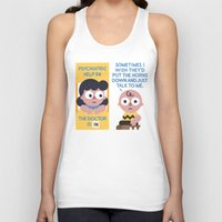 peanuts Tank Tops featuring Muted Affection by David Olenick