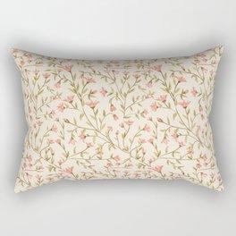 Vintage Floral Pattern Rectangular Pillow