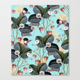 Strawberry Brush Hide-Out #society6 #decor #buyart Canvas Print