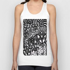 Flowers in the Rain Forest. Unisex Tank Top