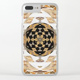 Not Your Grandma's Quilt: #Soverignty2020 #innerstanding Sri Yantra Sacred Geometry Dope Boho Quilt! Clear iPhone Case