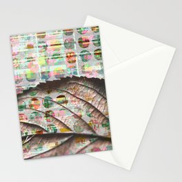 343 19 Abstract Polka Dot Autumn Leaf Stationery Cards
