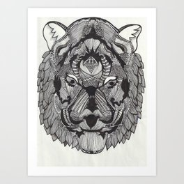 Tiger by Mieke Kristine Art Print