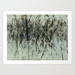 Emerald grass ~ Abstract Art Print