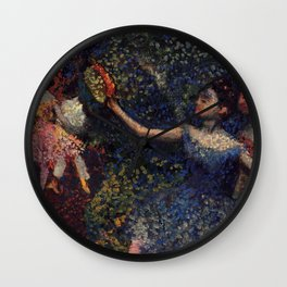 Dancer And Tambourine By Edgar Degas | Reproduction | Famous French Painter Wall Clock