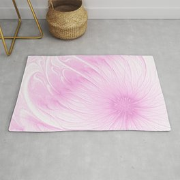 Pink Spring | Flower, abstract digital painting, cute floral pattern, pretty pastel flowers Rug