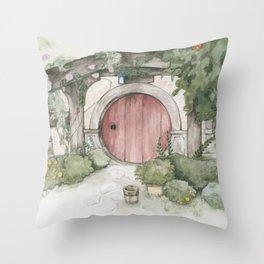 Hobbithole 3. Throw Pillow