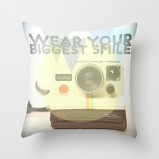 WEAR YOUR BIGGEST SMILE Throw Pillow