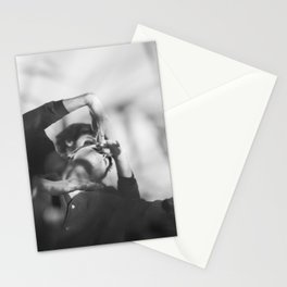 Woman and man, dancers, black and white Stationery Cards