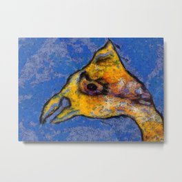 Native American Yellow Bird Metal Print