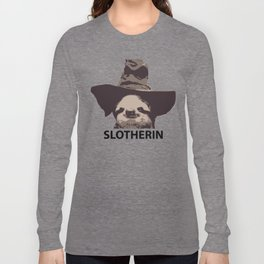 Slotherin (Slytherin + Sloth) Long Sleeve T-shirt