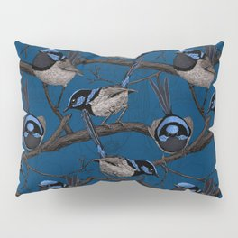 Night fairy wrens Pillow Sham