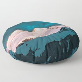 Mt Baker Blue Floor Pillow