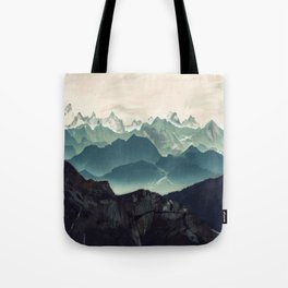 Shades of Mountains Tote Bag