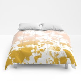 Essie - abstract minimal gold painting metallics home decor minimalist hipster Comforters