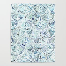 Ice and Diamonds Art Deco Pattern Poster