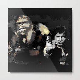 Han Solo & Chewbacca Metal Print