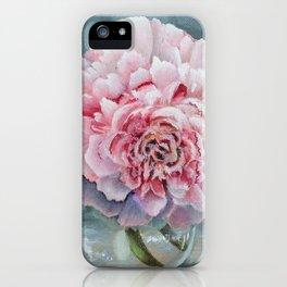 Peony Memories Flower Painting iPhone Case