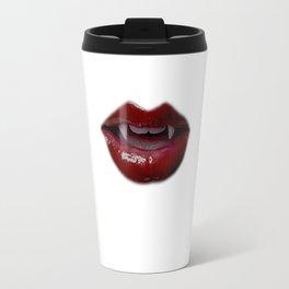 Vampire Lips art, Art Print, Digital Art, Makeup Painting, Poster Art, Printable Art Travel Mug