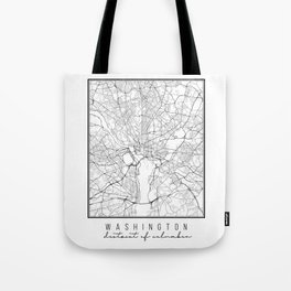 Washington DC Street Map Tote Bag