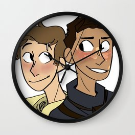 finn and elliot Wall Clock