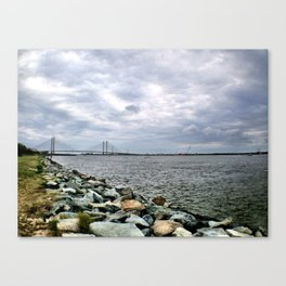 Inlet at Bethany Beach Canvas Print