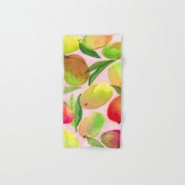 Mango Watercolor Painting Hand & Bath Towel