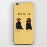 sith iPhone & iPod Skins featuring Mr & Mrs Sith by Simon Alenius
