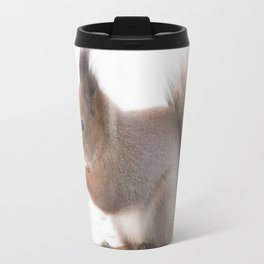 Squirrel And Lunch Pause Winter Scene #decor #society6 #buyart Travel Mug