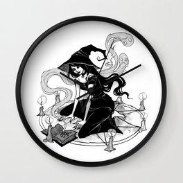 Inktober Witch Wall Clock