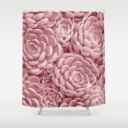 Blush Succulents Shower Curtain
