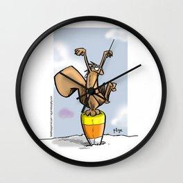 Candy Corn Crane Technique Wall Clock